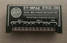 Radio Labs RDL ST-MPA2 Stick On Dual Mic Phantom Adapter ST MPA2