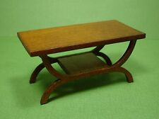 Dollhouse Miniature Walnut Coffee Table Modern Furniture