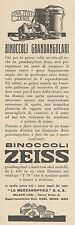 Z3122 Binoccoli grandangolari ZEISS - Pubblicità d'epoca - 1932 old advertising