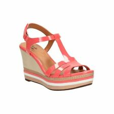 Clarks Zia Wave Coral Pink Wedge Sandals UK Size 4 - BNIB - RRP £50