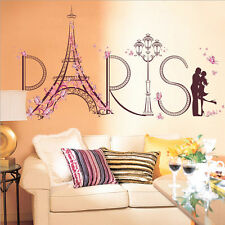 Removable Paris Eiffel Tower Decal Room Wall Art Stickers PVC Mural Home Decor