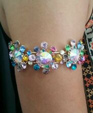 Multi coloured upper arm bangle top cuff summer ibiza island costume jewellery