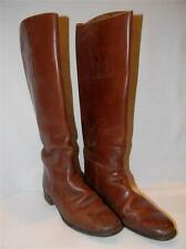RARE Vtg 30s MANFIELD & SONS english EQUESTRIAN RIDING BOOTS brown leather 7.5 B