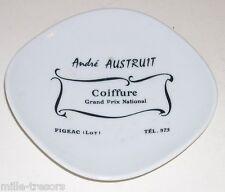 Cendrier publicitaire : André AUSTRUIT à FIGEAC - COIFFURE Grand Prix National