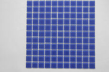 Crystal glass mosaic tiles - #326 Blue - Pool / Spa / Waterline /Feature walls