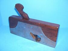 showy Bayfield Nottingham England steel cased rabbet plane w/ rosewood infill