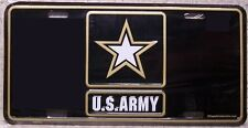 Aluminum Military License Plate U S Army Star Logo Emblem NEW