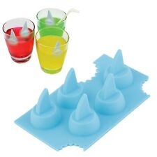 Silicone Blue Shark Fin Ice Tray Cube Freeze Maker Chocolate Mould Mold MG