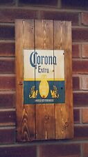 Corona sign plaque wooden sign  mancave shed bar pub  christmas gift