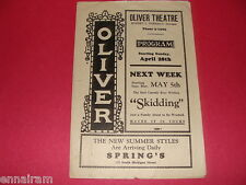 1920's Oliver Theatre Chicago Flyer for play The Scarlet Woman by Zelda Sears