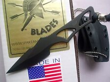 Spartan Enyo Fixed Blade Fighting Neck Knife Kydex Sheath SB2BK New