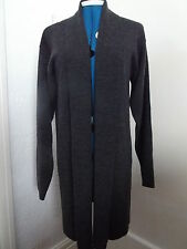 BNWOT Grey marl shawl collar/edge cardigan 30% wool size 10 length 35""