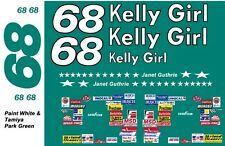 #68 Janet Guthrie 1976 Chevrolet 1/24th - 1/25th Scale Decals