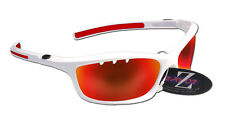 RayZor Uv400 White Sports Wrap Sunglasses Vented Red Mirrored Lens RRP£49 (401)