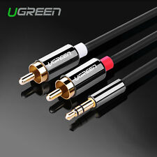 Ugreen 3.5mm Male to 2RCA Audio Stereo Y Splitter Cable For Tab Laptop MP3/4 1M