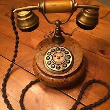ITALIAN  SITEL TELEPHONE Vintage Made in Italy- RARE LEATHER Design HORCHOW