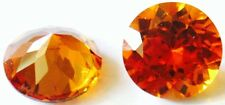 a pair of  5 mm Round Brillant Cut Reddish orange Created Padparacha