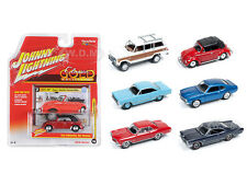CLASSIC GOLD RELEASE 1 SET A SET OF 6 CARS 1/64 BY JOHNNY LIGHTNING JLCG001-A