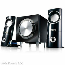 Computer Stereo Desktop Speakers Audio Cable Cord Subwoofers Sound System Set