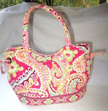 Vera Bradley Capri Melon (Retired) Small Sachel Hand bag EUC