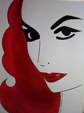 Mexican DIVA : MARIA FELIX -- MEXICAN POP ART : ABSTRACT Original PAINTING