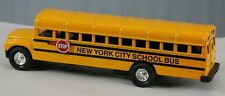 Yellow new york city School Bus Diecast Model pull back action  6 inch