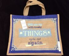 Tesco Lovely Things Jute Tote Bag Juco New Reuse Recycle Eco Retro 2015