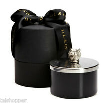 NEW $120 D.L. & Co. TIGER Hammered Artisian Lid Luxury Candle 100+ Burn 3D