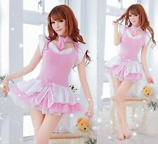 Japanese Style Sweet Pink Lolita Fashion Cosplay Fancy Mini Dress, UK Size 10-14