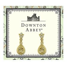 Downton Abbey Gold-Tone Crystal Petite Filigree Teardrop Earrings 17607
