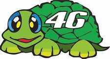 Número de carreras moto exterior de vinilo 46 calcomanías de motocicleta MotoGP Pegatinas de tortuga