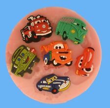 DISNEY CARS SET SILICONE MOULDS FOR CAKE TOPPERS, CHOCOLATE, CLAY ETC