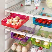 Multipurpose Storage Refrige Freezer Sliding Drawer Organizer Shelf Space Saver
