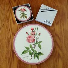 Set 6 Jason Melamine Round Placemats & 6 Round Coasters Redoute Roses Pink