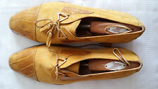 Men's Yellow Genuine Alligator Leather City Classic Shoes by Nando Orsini made i