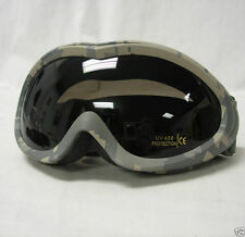 Fox Outdoor Sahara Eye Goggles ACU Army Digital Military Tactical Shatterproof