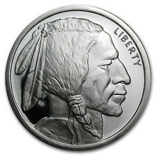 5 oz Silver Buffalo Round - Buffalo Nickel Design - SKU #78586