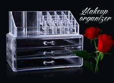 3 Drawers 12  Grids Makeup Cosmetics Organizer Clear Acrylic Display Box Storage