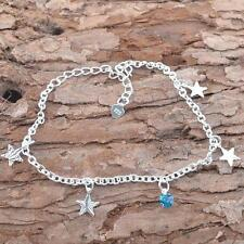 Silver Star Anklet Ankle Bracelet Barefoot Sandal Beach Chain Jewelry