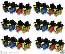 24Patronen für Drucker Brother DCP-115C DCP115C dcp115 Cyan Magenta Yellow Black
