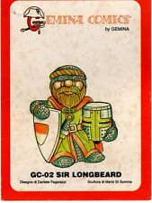 SOLDIERS MINIATURES GC-02 - GEMINA COMICS SIR LONGBEARD RESIN KIT - NUOVO