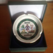 Beautiful new 70mm Irish Dancing Ash Tray in Green Presentation Box.