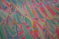 "Lilly Pulitzer Dobby Cotton Fabric Multi Out To Sea uncut 1yd  36"" X 57"""
