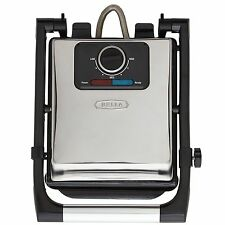 BELLA Electric Panini Maker Press & Sandwich Grill Polished Stainless Steel NEW