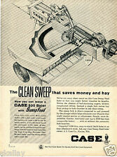 1964 Print Ad of Case 200 Farm Tractor Sweep Feed Baler