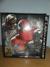"SIDESHOW Black Suited 7"" Spiderman 3 Mini Bust - 0021 of 1500- New w/ Box- Look"