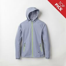 NIKE WOMENS ALLOVER FLASH REFLECTIVE 3M HOODED RUNNING JACKET SIZE M TECH NSW