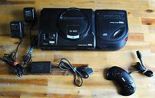 Console SEGA MEGA CD II 2 + Mega Drive 1 et tous les câbles : prête à jouer !