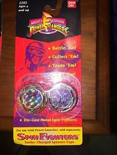 1993 MIGHTY MORPHON POWER RANGERS SPIN FIGHTERS TURBO CHARGED SPINNER TOPS BIP H