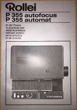 Rollei P 355 Autofocus Automat In Practical Use Instruction Book 6 Languages